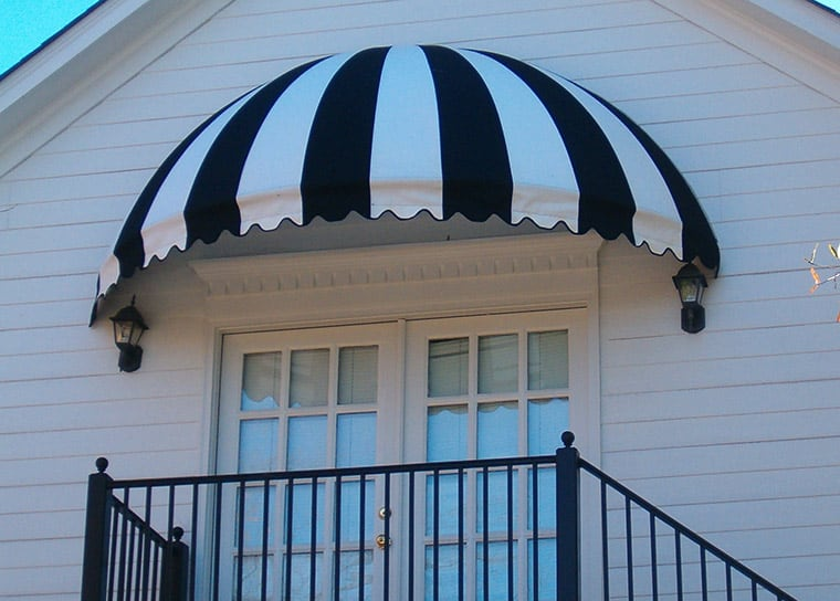 canvas door awnings
